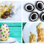 easter eggs made with chocolate