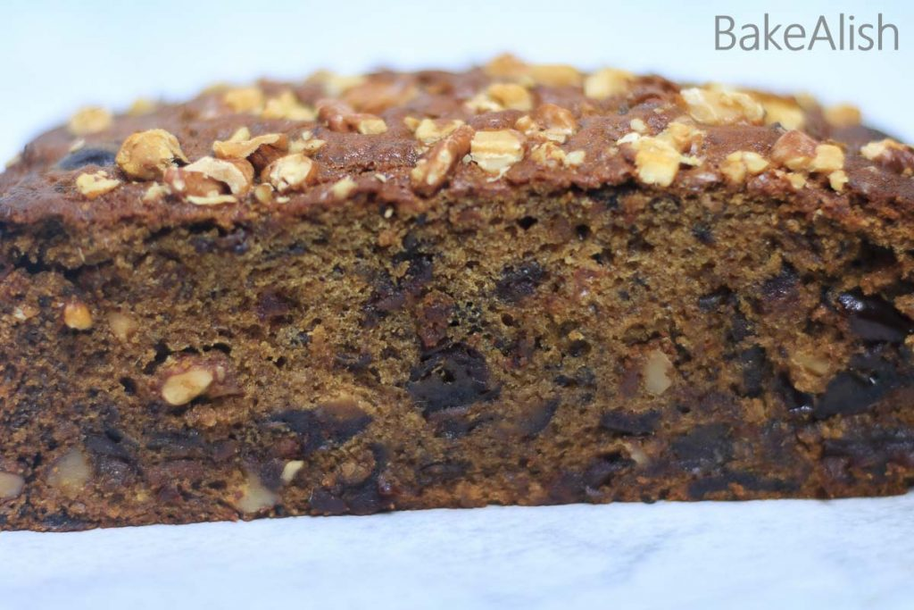 Date and walnut is a moist and fluffy homemade traditional cake