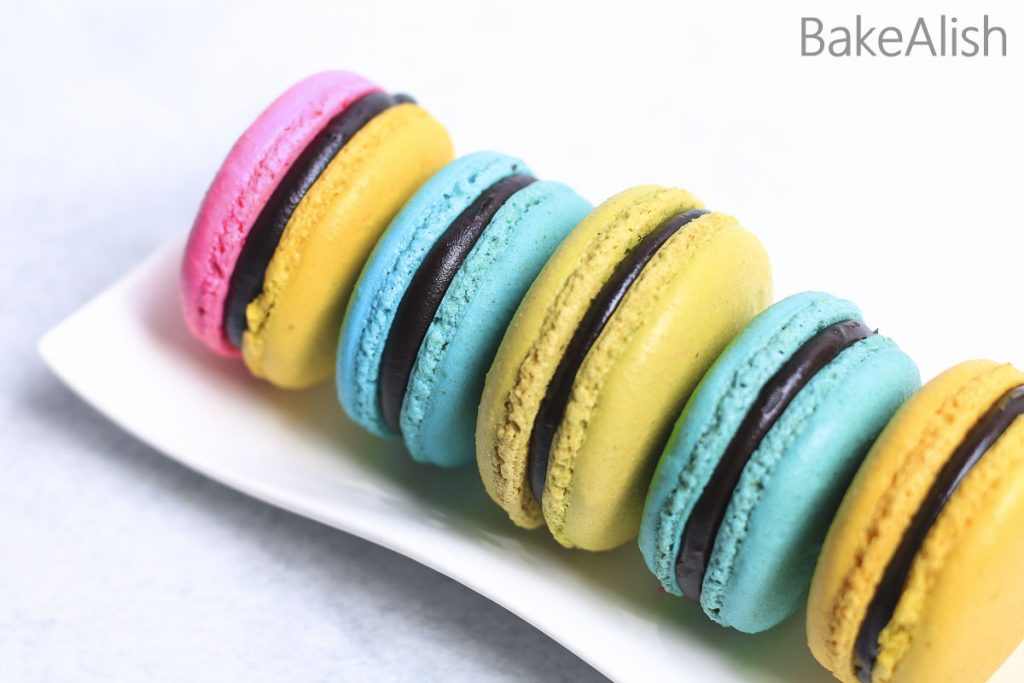 Online Workshop On French Macarons - macs on a plate